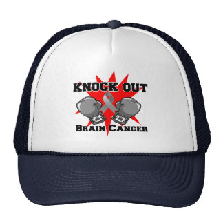 Knock Out Brain Cancer Hats