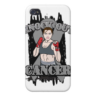 Knock Out Brain Cancer iPhone 4/4S Covers