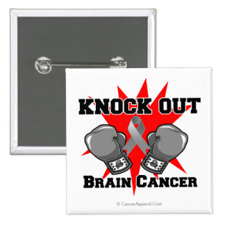 Knock Out Brain Cancer Pin