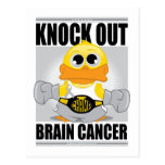 Knock Out Brain Cancer Postcard