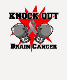 Knock Out Brain Cancer T Shirt
