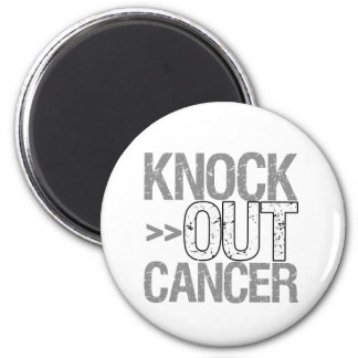 Knock Out Cancer - Carcinoid Cancer 2 Inch Round Magnet