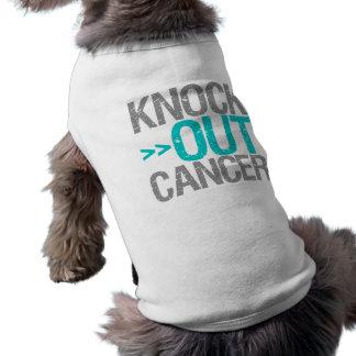 Knock Out Cancer - Gynecologic Cancer Doggie Tshirt