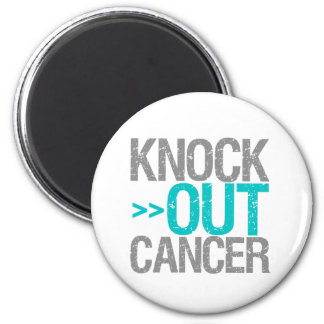 Knock Out Cancer - Gynecologic Cancer Magnets