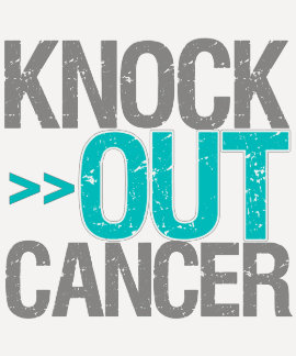Knock Out Cancer - Gynecologic Cancer Tee Shirt