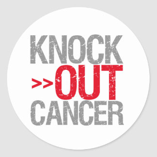 Knock Out Cancer - Oral Cancer Stickers