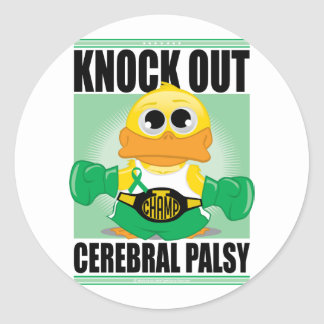 Knock Out Cerebral Palsy Classic Round Sticker