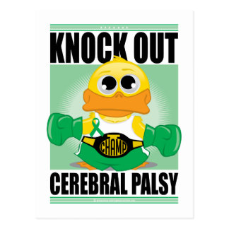 Knock Out Cerebral Palsy Postcard