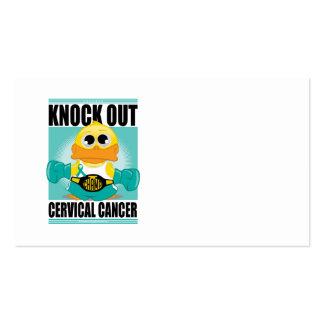 Knock Out Cervical Cancer Business Card