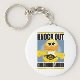 Knock Out Childhood Cancer Keychain