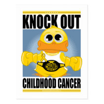 Knock Out Childhood Cancer Postcard