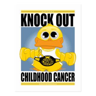 Knock Out Childhood Cancer Postcard