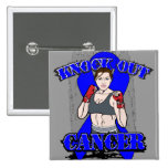 Knock Out Colon Cancer Pinback Button