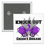 Knock Out Crohn's Disease 2 Inch Square Button