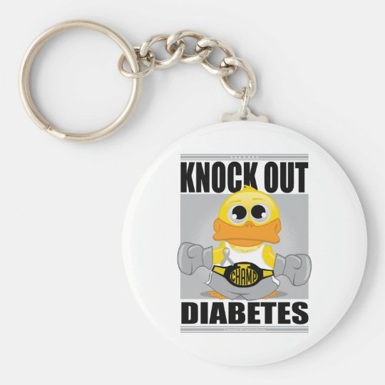 Knock Out Diabetes Keychain