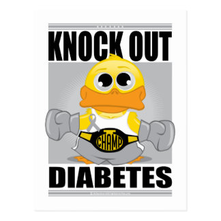 Knock Out Diabetes Post Cards