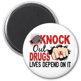 Knock Out Drugs 2 Female Fist 2 Inch Round Magnet