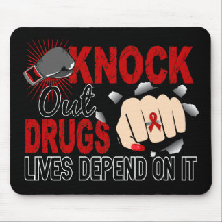 Knock Out Drugs 2 Female Fist Mouse Pad