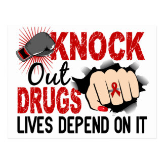 Knock Out Drugs 2 Female Fist Postcard