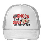Knock Out Drugs 2 Female Fist Trucker Hats