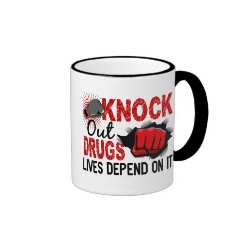 Knock Out Drugs 2 Male Fist Coffee Mugs