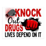 Knock Out Drugs 2 Male Fist Post Card