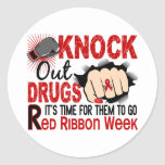 Knock Out Drugs Female Fist Round Sticker