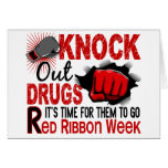 Knock Out Drugs Male Fist Cards