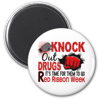 Knock Out Drugs Male Fist Fridge Magnet