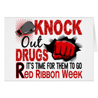 Knock Out Drugs Male Fist Greeting Card