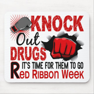 Knock Out Drugs Male Fist Mouse Pad