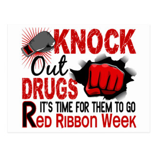 Knock Out Drugs Male Fist Postcard