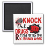 Knock Out Drugs Male Fist Refrigerator Magnets