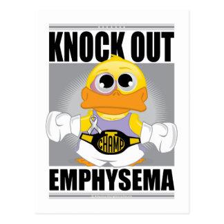 Knock Out Emphysema Postcard