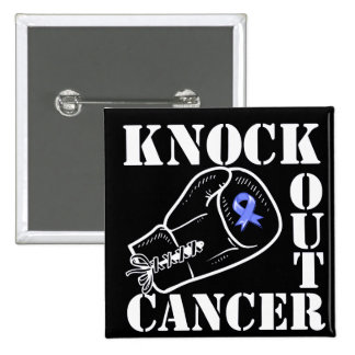 Knock Out Esophageal Cancer 2 Inch Square Button