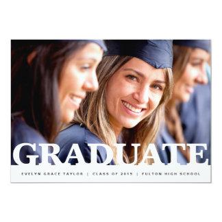 Knock out | Graduation announcement invitation
