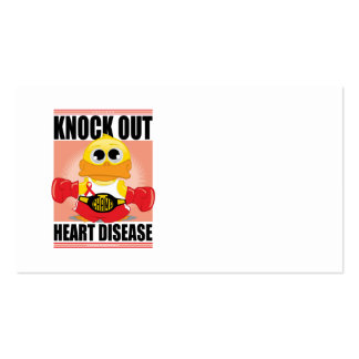 Knock Out Heart Disease Business Card Templates