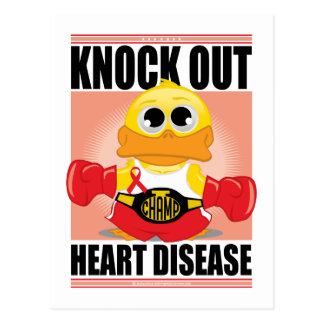 Knock Out Heart Disease Postcards