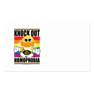 Knock Out Homophobia Business Card Templates
