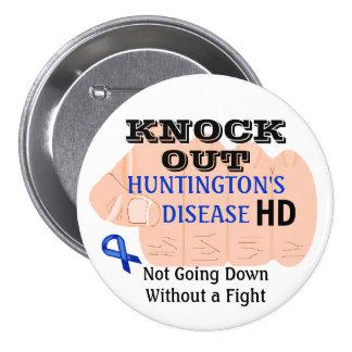 Knock Out Huntington's Disease HD Awareness Button