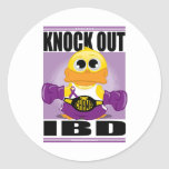 Knock Out IBD Round Sticker