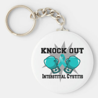 Knock Out Interstitial Cystitis Basic Round Button Keychain