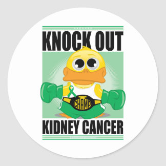 Knock Out Kidney Cancer Classic Round Sticker
