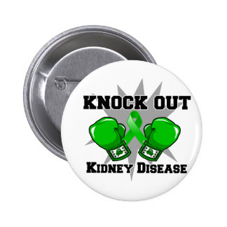 Knock Out Kidney Disease Pinback Button