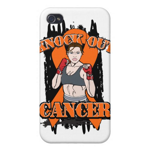 Knock Out Leukemia Cancer Cover For iPhone 4