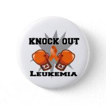 Knock Out Leukemia Pinback Button