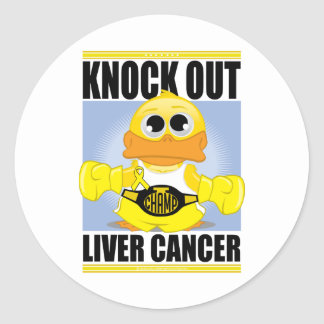 Knock Out Liver Cancer Classic Round Sticker