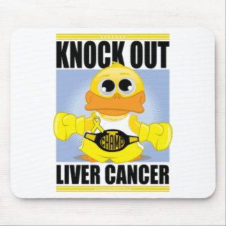 Knock Out Liver Cancer Mouse Pad