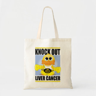 Knock Out Liver Cancer Tote Bag