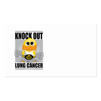 Knock Out Lung Cancer Business Card